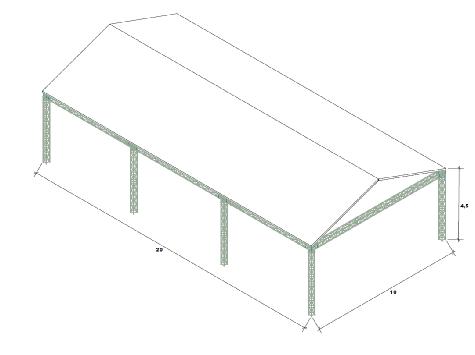 Tekening truss 10x20